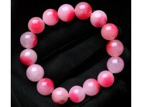 Náramek z růžového chalcedonu