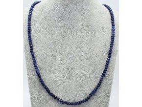 Safír náhrdelník fazetovaný