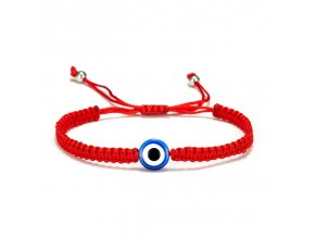 Kabbalah náramek - Modré oko - pletený