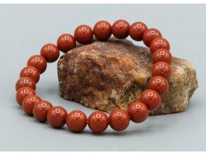 Náramek z červeného jaspisu 8 mm