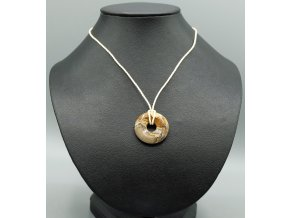 Obrázkový jaspis donut náhrdelník