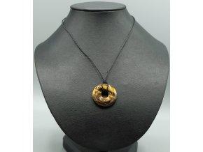 Tygří oko donut náhrdelník
