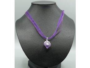 Ametyst surový náhrdelník