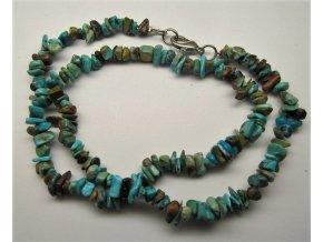Tyrkys náhrdelník sekaný