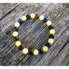 Žluto-černý náramek z achátu