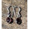 Náušnice z granátu - mugle kameny