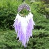 Fialovo bílý lapač snů se stromem života