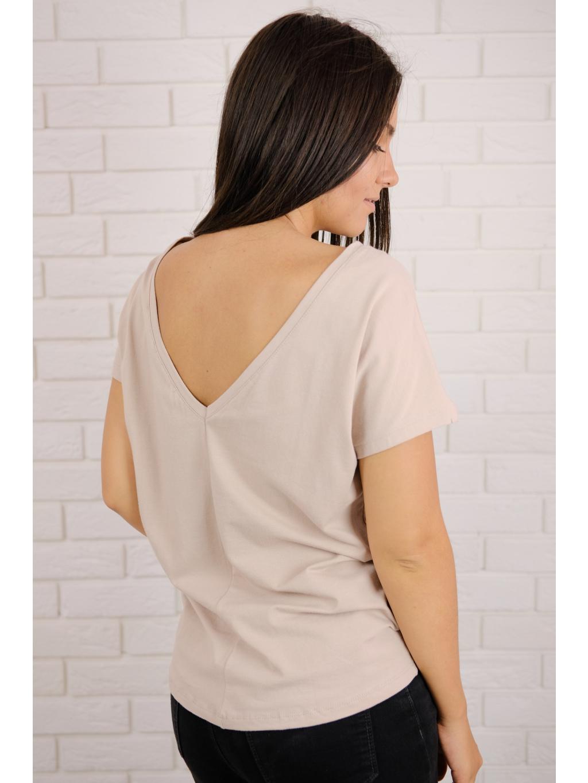 Tričko Back beige