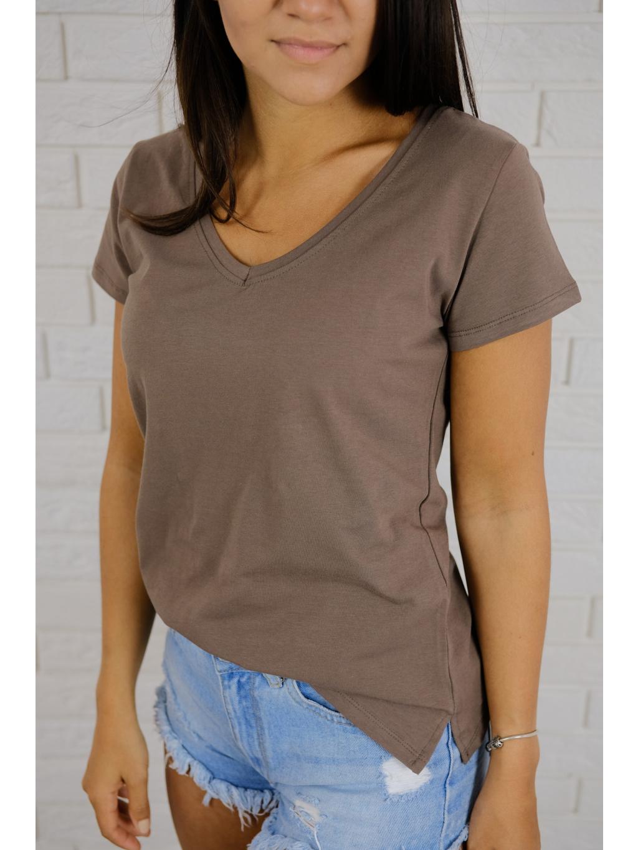 Tričko Basic brown