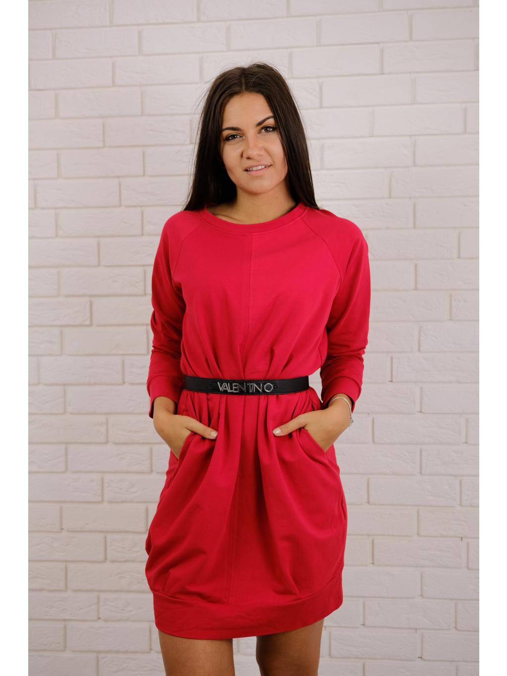 Teplákové šaty red