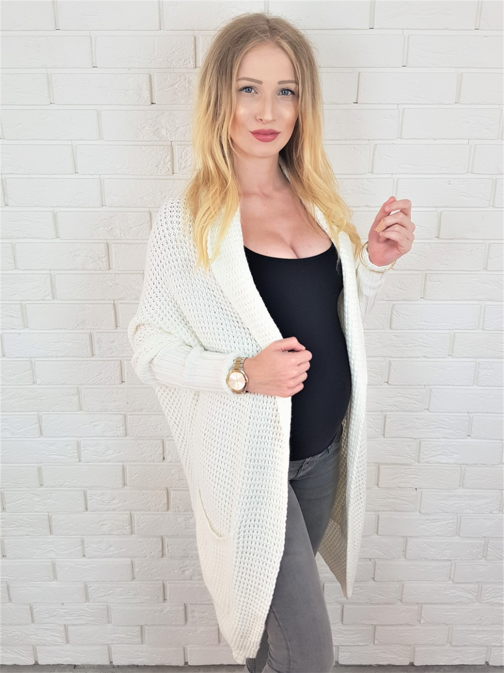 Cardigan Margit white