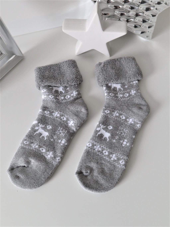 Froté ponožky Christmas grey