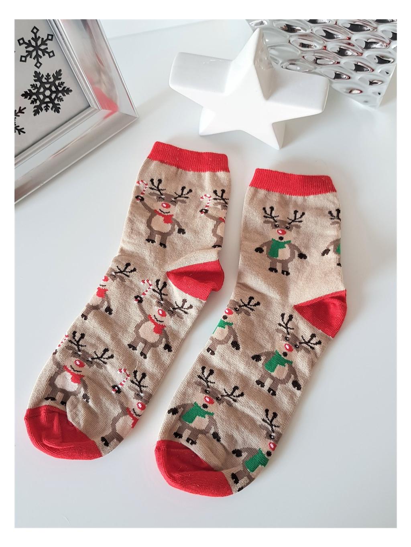 Ponožky Yule beige
