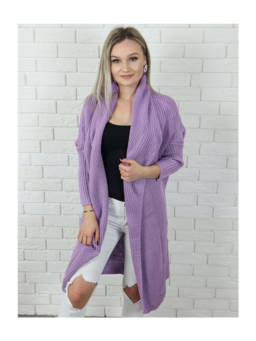 Cardigan Maroco purple