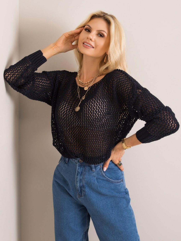 pol pl Granatowy sweter Elisa RUE PARIS 352663 1