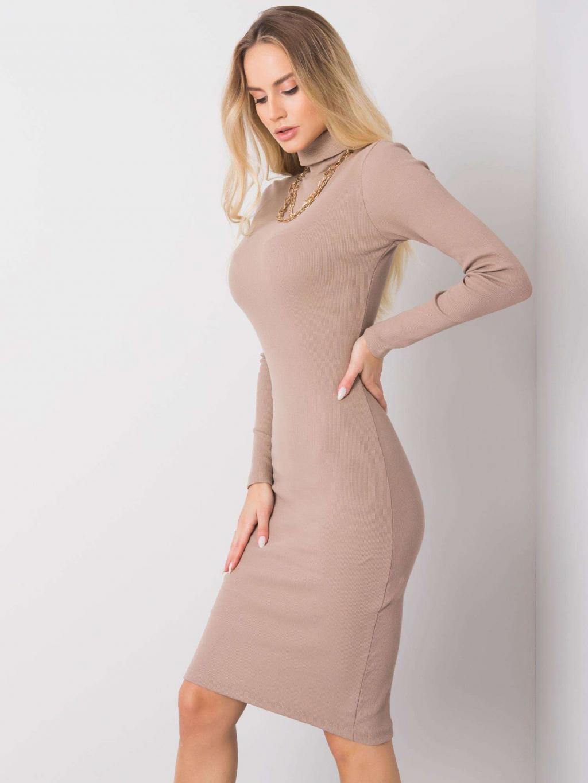 pol pl Ciemnobezowa sukienka Livia RUE PARIS 355775 2