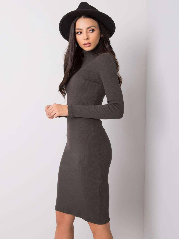 pol pl Ciemna khaki sukienka Livia RUE PARIS 358302 3