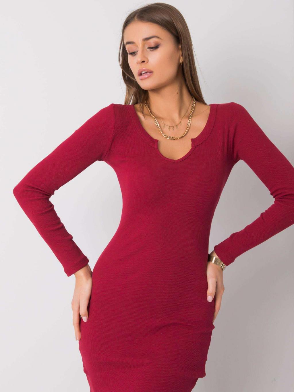 pol pl Bordowa sukienka Frely RUE PARIS 357014 1