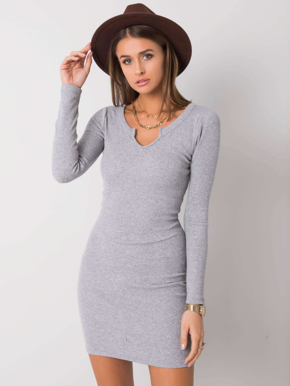 pol pl Szara sukienka Frely RUE PARIS 357015 2