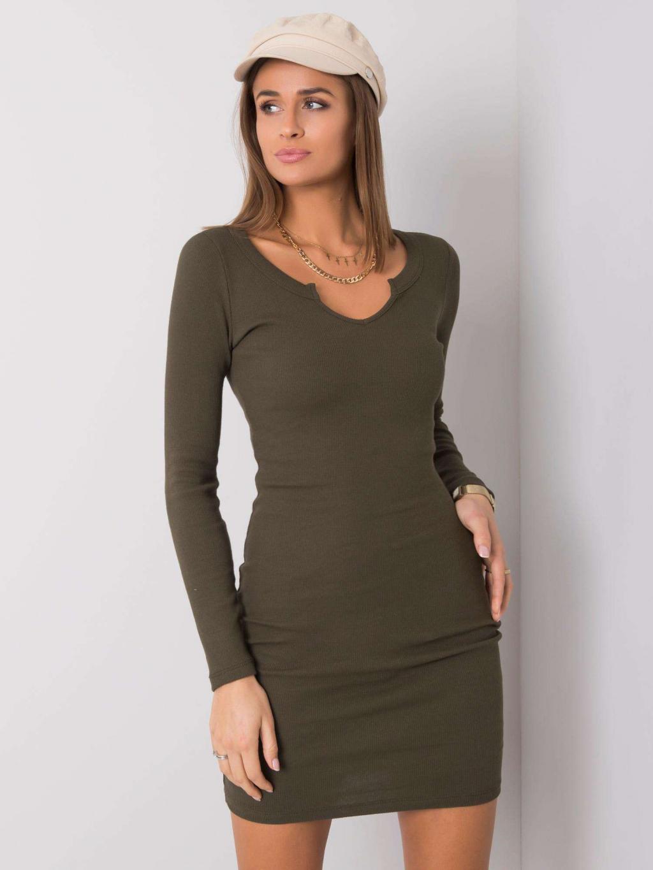 pol pl Khaki sukienka Frely RUE PARIS 357016 4