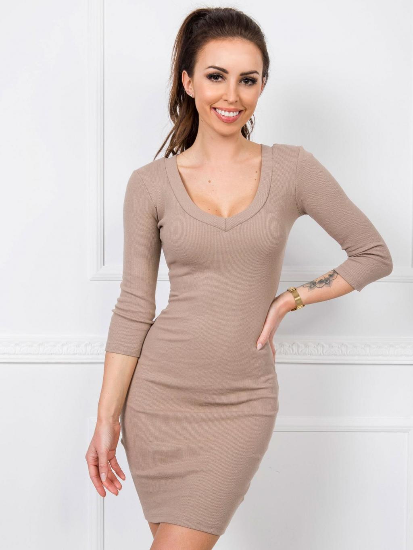 pol pl Ciemnobezowa sukienka Kim RUE PARIS 349057 1