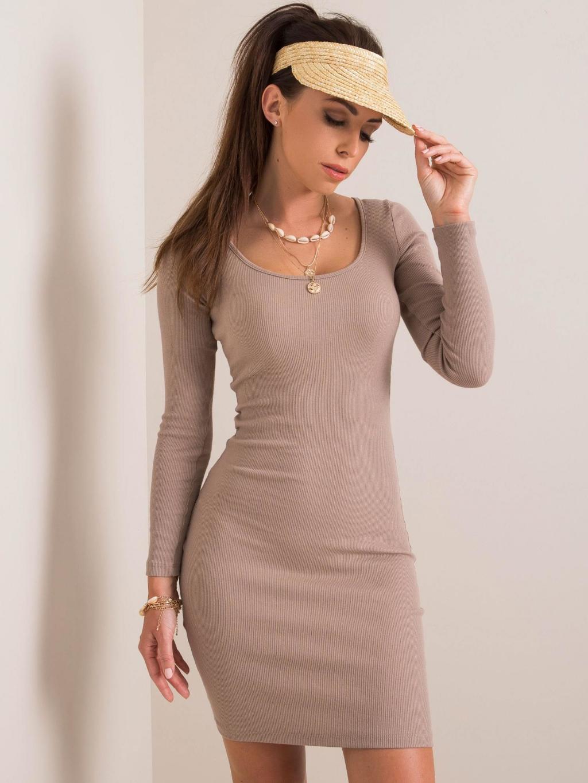 pol pl Ciemnobezowa sukienka Georgina RUE PARIS 349544 1