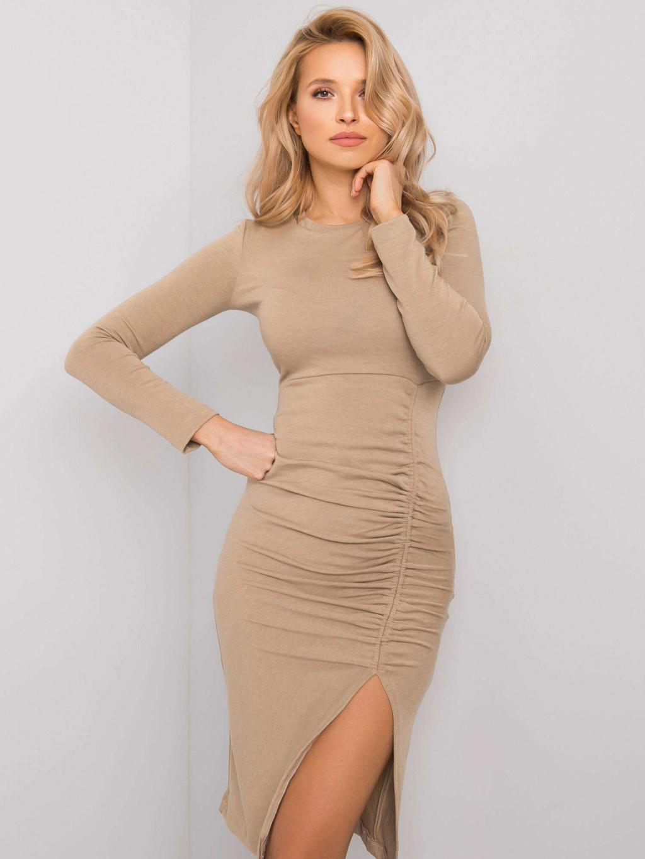 pol pl Bezowa sukienka Manhattan RUE PARIS 359246 1
