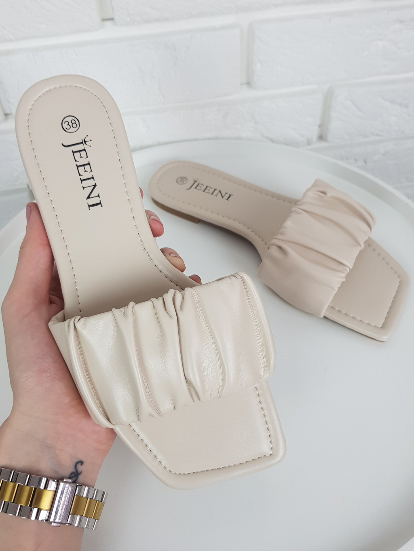 Pantofle Lena cream
