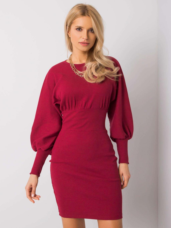 pol pl Bordowa sukienka Leticia RUE PARIS 358294 1