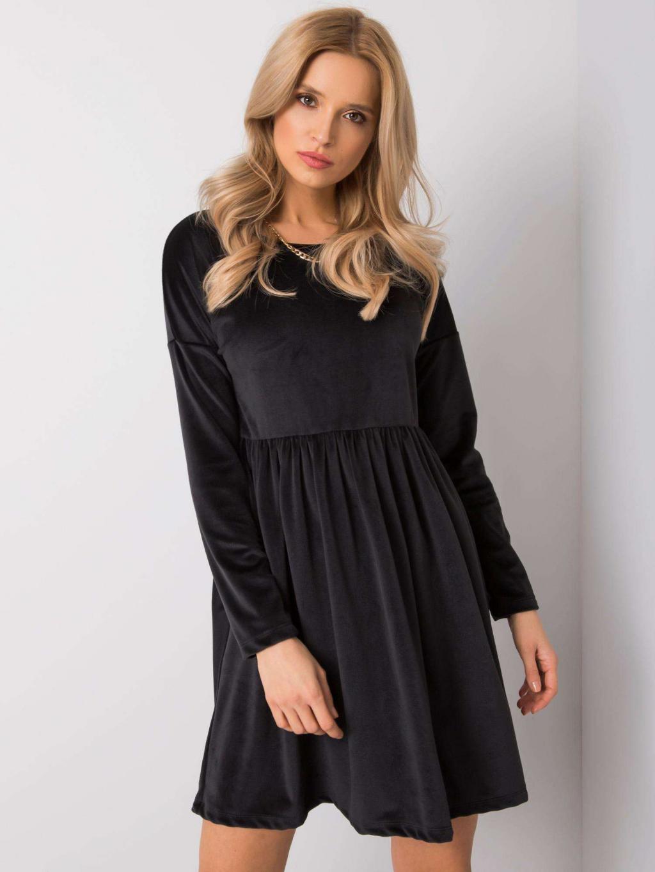 pol pl Czarna sukienka welurowa Mauriel RUE PARIS 359235 1