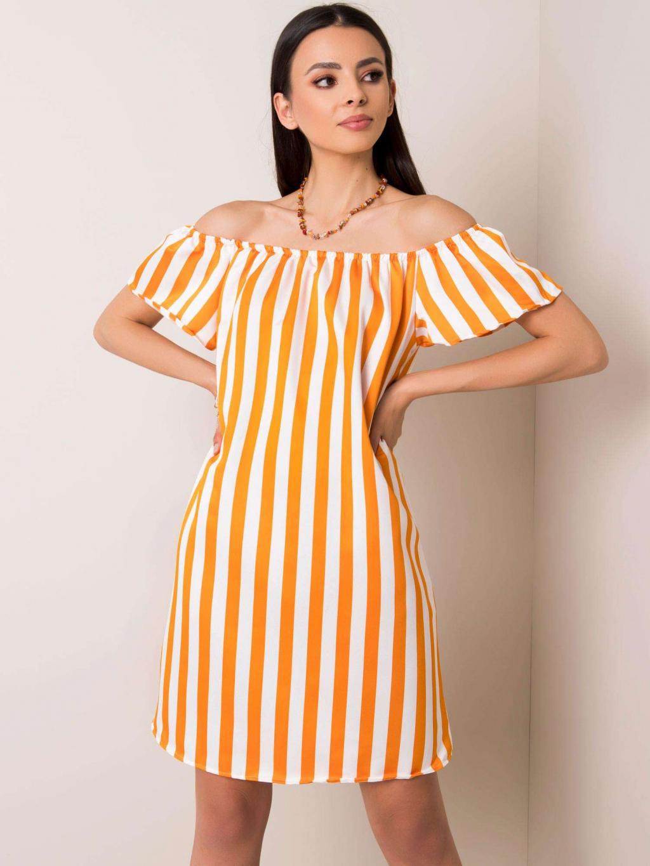 pol pl Bialo pomaranczowa sukienka Kerri 350355 1