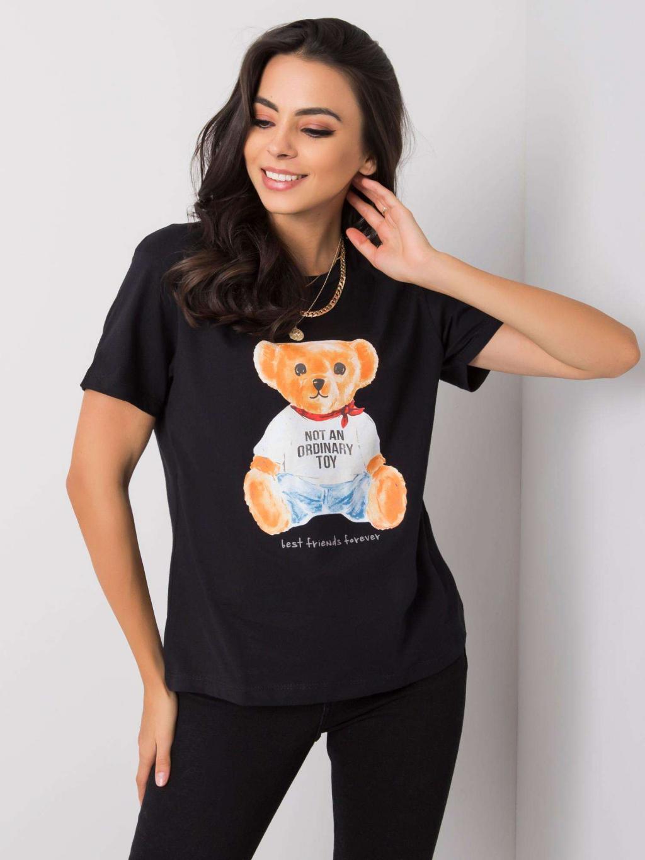 pol pl Czarny t shirt bawelniany Mabelle 360891 1