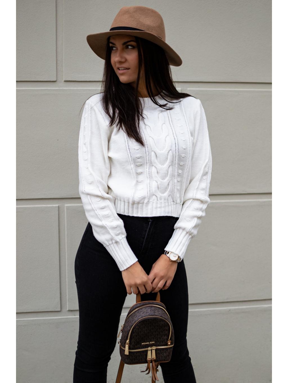 Crop svetřík Lares white