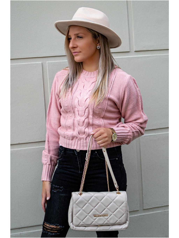 Crop svetřík Lares pink