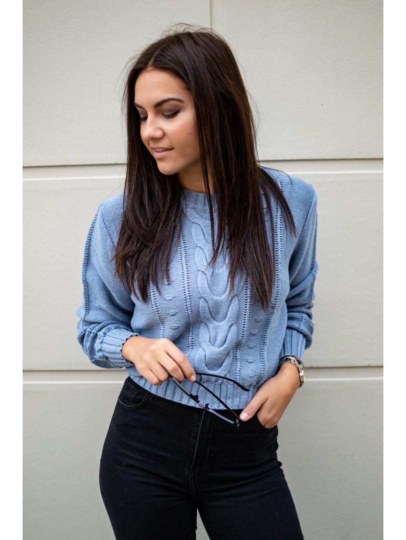 Crop svetřík Lares blue