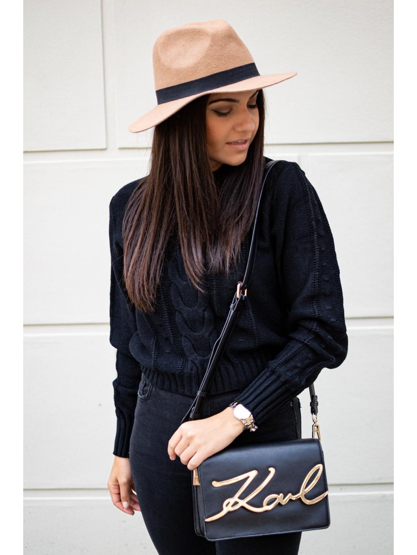 Crop svetřík Lares black