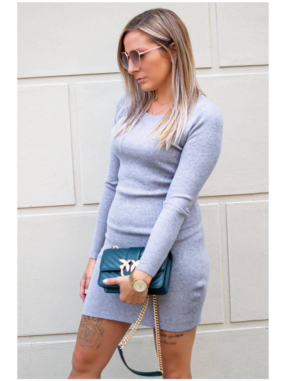 Šaty Saline grey