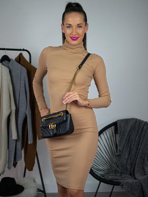 Šaty Nicoletta camel