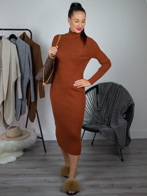 Šaty Olle brown