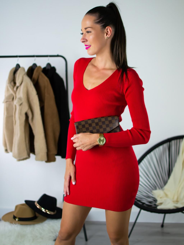 Šaty Fash red