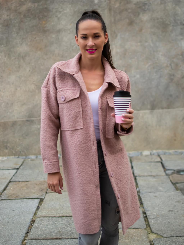 Kabát Celie pink
