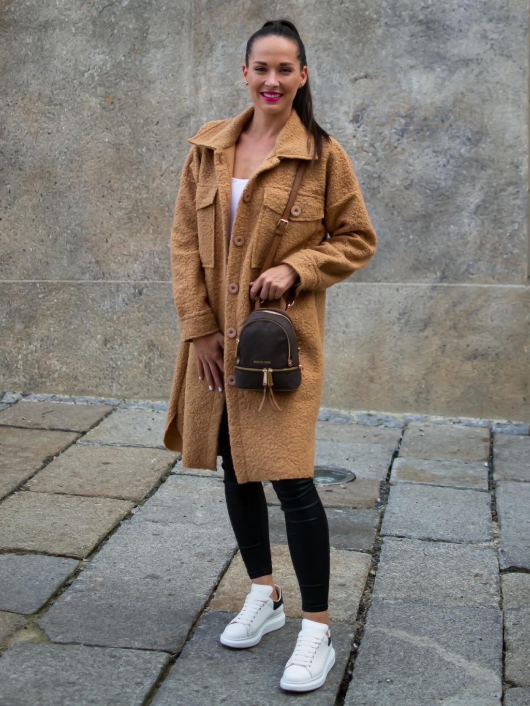 Kabát Celie camel