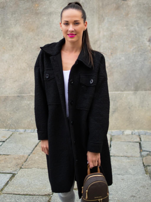 Kabát Celie black