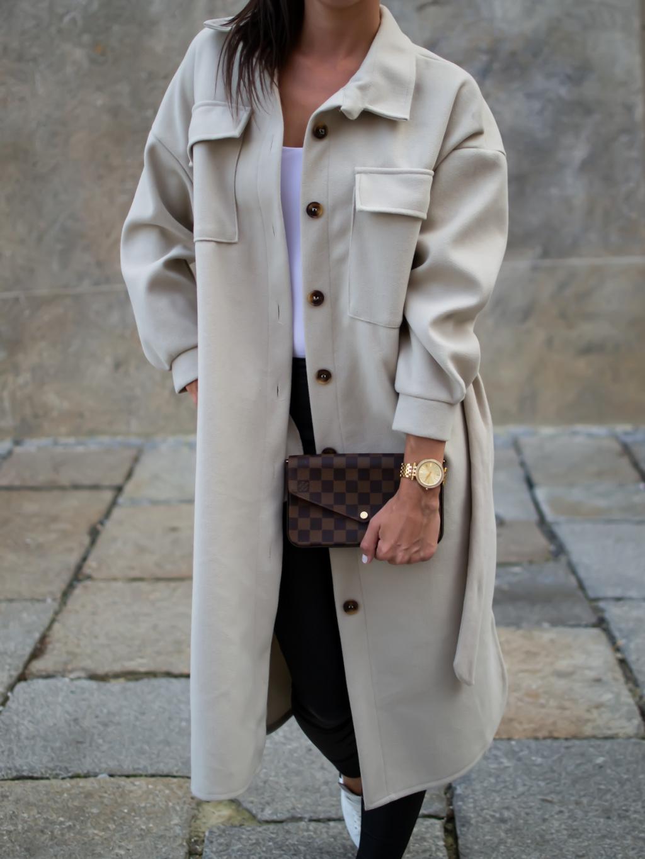 Kabát Zing creme
