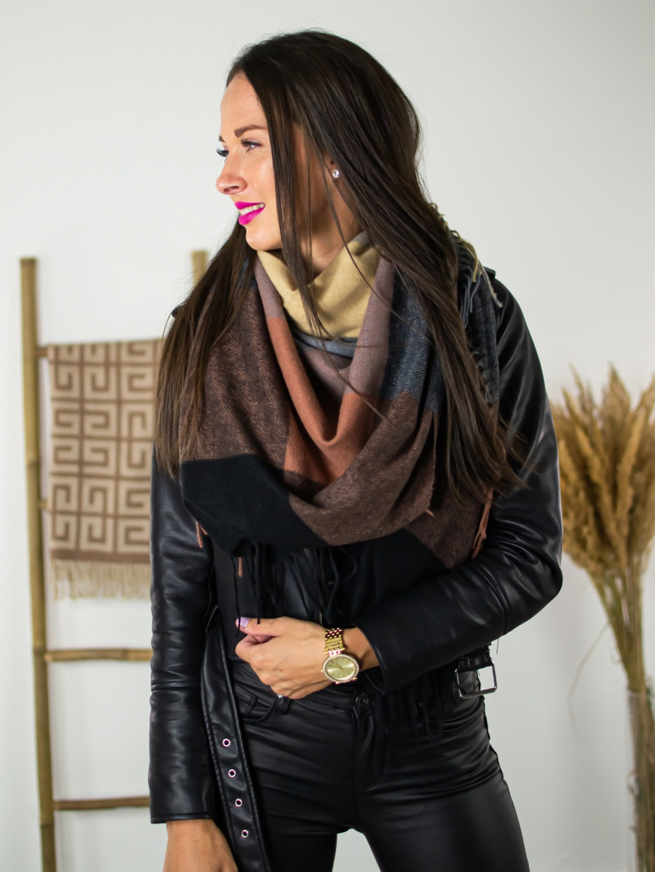 Šátek Sweet dark brown