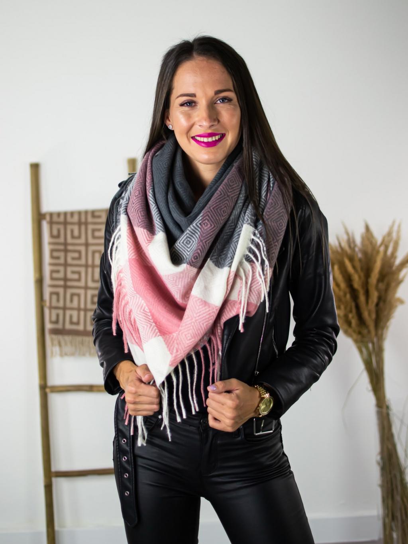 Šátek Letti dark pink