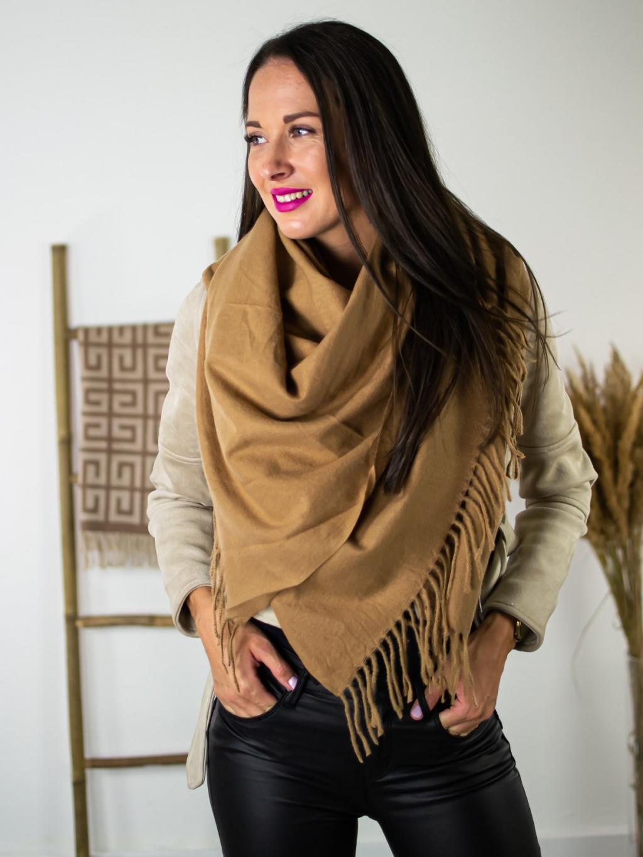 Šátek Clear brown