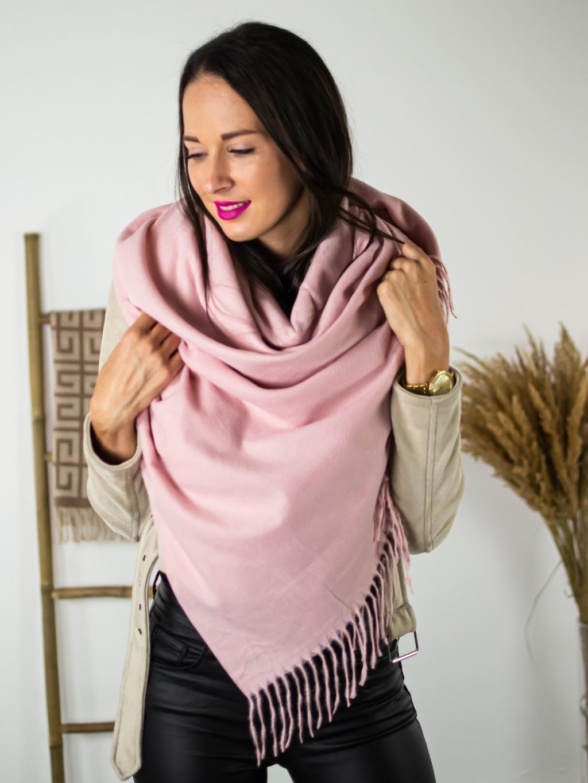 Šátek Clear pink