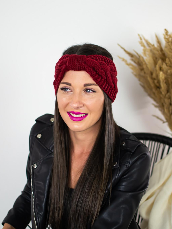 Čelenka Knitt cherry