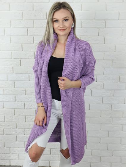 Cardigan Maroco purple
